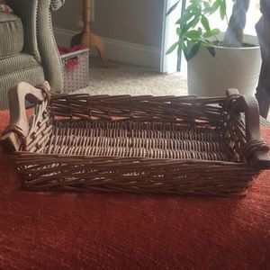 Rustic Vintage Wicker Decorative Tray with Handles